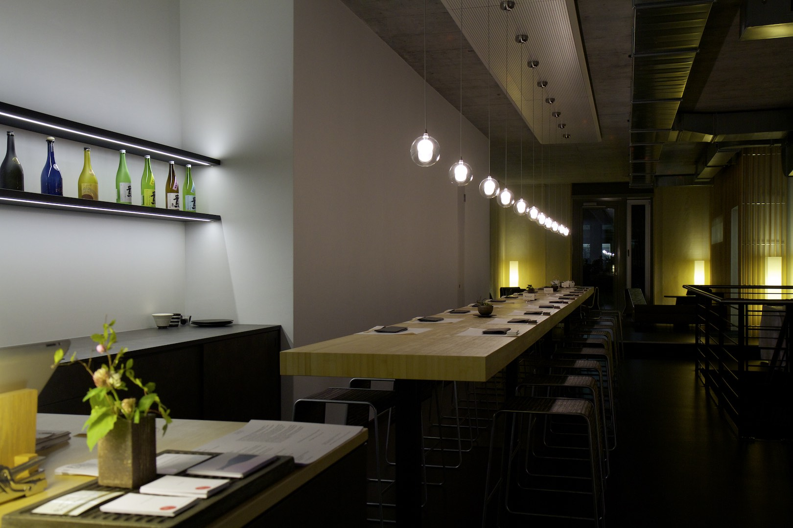 Shinwazen bar table